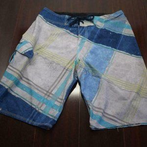 Mens Quiksilver Striped Performance Board Shorts